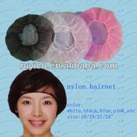 colorful hair net,nylon hair net,nursing hair net