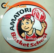 official size 3 rubber basketball