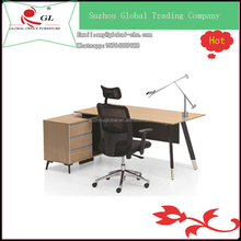 well-design writing desk l type desk