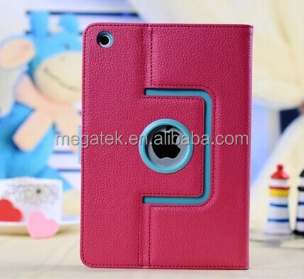 Tablet case cover dual color leather rotating case for ipad mini