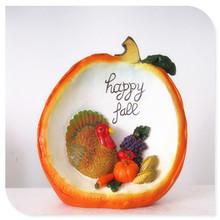 Resin Pumpkin with Animals & Vegetables inside Craft for Harvest Decoration & Gift