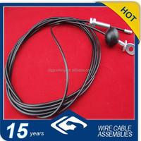 4mm 1*19 galvanized steel coated black nylon up to 6mm