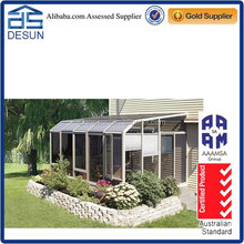 customized aluminum slant sunroom for balcony/garden