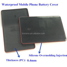 Custom waterproof 0.4mm plastic overmolding injection silicone cell phone battery cover