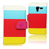 Best selling book style flip leather phone case for samsung galaxy t599 cover