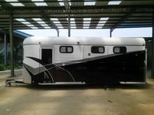 custom extra long 3 horse float trailer with living quarters