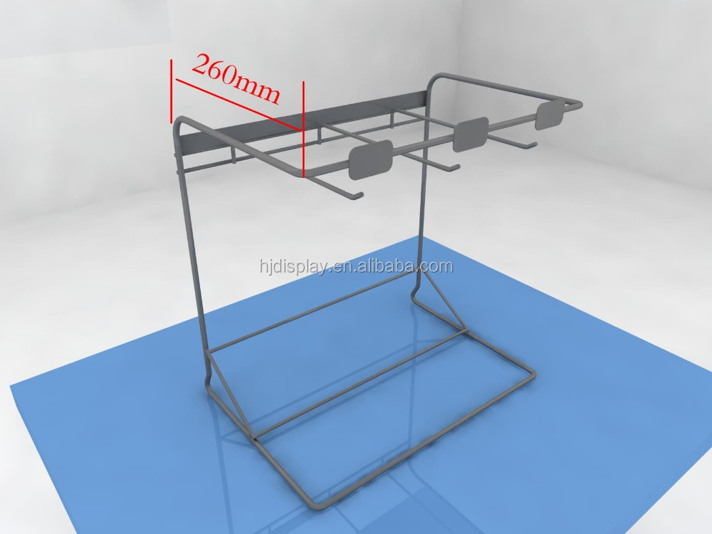 metal wire rack supermarket glove stand counter display