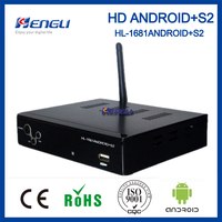 best selling hd satellite receiver dvb-s2 android set top box wifi