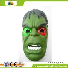 Máscara de halloween con la luz( incluyen la electricidad)