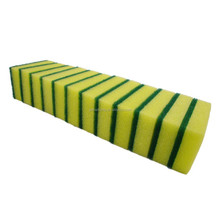 household kitchen and table washing sponge scouring pad good sponge scouring scrubber yellow/ green