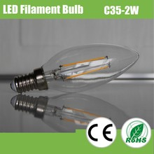 2015 new 360 degree low price C35 dimmable filament led bulb, 2W led bulb lighting for house