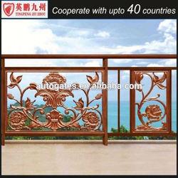 Aluminium extrusion fence profile/ aluminium wooden fense / wood grain fence
