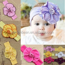 New coming Baby girls cotton Floral Headband infant toddler girls flower hariband children floral headband WH-1362