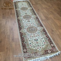 2.5x10 Long hallway persian rugs handmade silk carpet runner