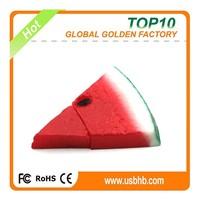 Bulk cheap food polyresin emulational red watermelon usb drive