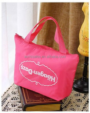 Lovely insulation bag frozen can ice bag,promotional zipper hand can cooler bag