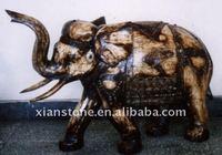 Ivory hand carved elephants
