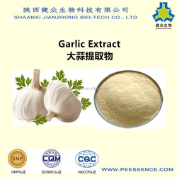 JIANZHONG GMP SUPPLY high quality garlic extract allicin& alliin, extract garlic product, 100% pure garlic extract