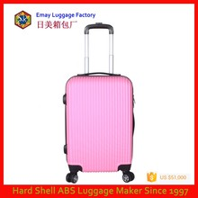 Pink Color Lady Style Hard Shell ABS Trolley Luggage