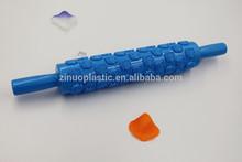 Fábrica venta al por mayor hecha a mano de los pasteles ajustable rodillo de plástico