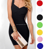 WH79 Bandage dress sexy tight package hip dress