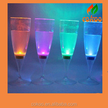 Color Changing Flashing Led Cup Light Wine 6pcs Night Light,7 changing color Happy New Year LED glow Martini glass