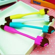 novelty cute ice cream shape flexible ballpoint pen promotion for kids