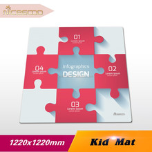 Best selling soft plush baby play mat with custom design