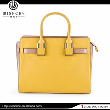 Wishche Best Selling Fashion Stylish Bags Leather Handbag Satchel Bags Women Newest Pictures Lady Fashion Handbag Factory W023