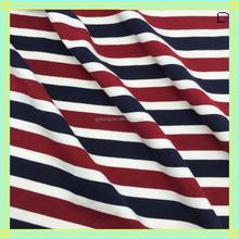 hotsale high quality cotton/spandex stripe fabric for polo shirt