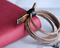 Braided Leather Samsung USB cable for electronic accessories
