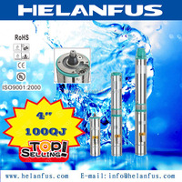 "4""100QJ stainless steel 20hp submersible pump"