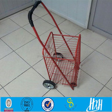 Factory price personal iron shopping cart red
