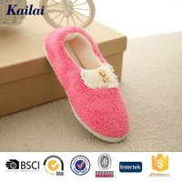 pink ladies beautiful non branded flat shoes