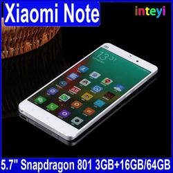 New Arrival Xiaomi Mi Note 64GB 5.7'' 1080P 4G FDD-LTE Mobile Phone Quad Core Snapdragon 801 3GB RAM MIUI 6 HiFi Smartphone