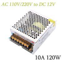 AC 110V/220V to DC 12V 10A 120W Lighting Transformers High quality LED driver for LED strip Display Industrial Equipment,