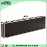 New design gun box aluminum vintage genuine leather gun case