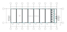 modular steel and glass house/ prefabricated modular home steel