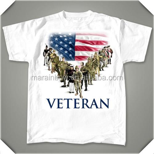 Mens Sublimation Printing American Flag T Shirts Custom