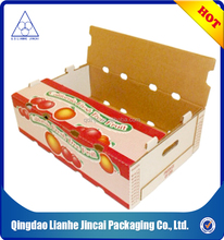 cardboard corrugated box for vegetable fruit packaging