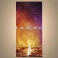 Newest Handmade Sea Ship Oil Painting For Decor