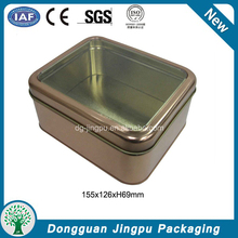 Clear window rectangular aluminum food cans