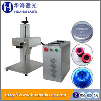 High quality With protection cover 20W China made fiber laser mobile phone marking machine