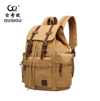 New product School bags,Canvas Leather Backpack Bag,Travel Backpack