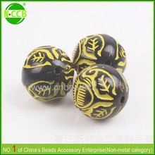 Garment accessory mixed color wholesale 12mm acrylic chunky beads