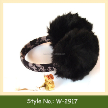 W-2917 winter abbit fur ear muffs fur earmuffs for winter winter faux fur ear cover