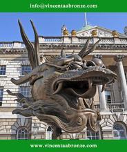 Hot sale China brand wholesale bronze dragon club statue