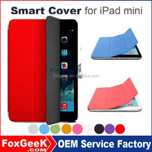 360 Degree Rotate Fashionable Folio Stand Smart Case Cover for iPad mini 2 3 4 Case (With Wake Sleep Function)