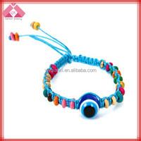 Resin Beaded Handmade Evil Eye Bracelets For Power-BR15080