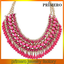 PRIMERO Wholesale Women Jewelry Trendy Hot Summer Promotional Braided necklace exaggerated 2015 Necklace bio elements necklace